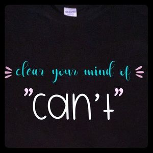 Handcrafted vinyl print motivational quotes tee